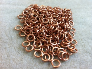 Copper jump rings...lots of them!