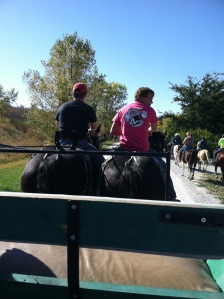 These two decided they wanted to ride Bonnie and Frank!